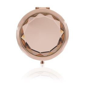 Jewelled Compact Mirror - Rose Gold