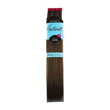Hairtensity Weft Full Head Synthetic Hair Extension 18 Inch - Medium Brown
