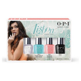 OPI Lisbon Collection Infinite Shine Mini 4 Pack  Multi-colour 4 x 3.75ml