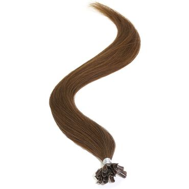 American Pride U-TIP Human Hair Extensions - 6 Sunkissed Brown 18