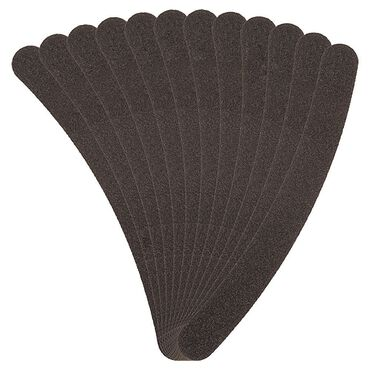 Salon Services Boomerang Nail File Black 100/180 Grit Pack of 12