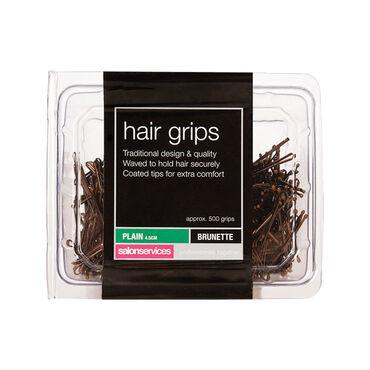 Salon Services Plain Hair Grip Brown Pack of 500