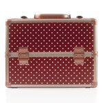 Salon Services Carina Beauty Box Medium Marsala Polka