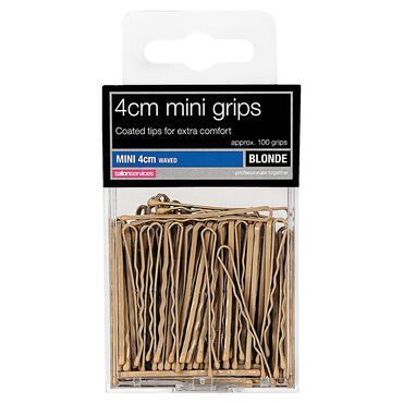 Salon Services Mini Grips Blonde 4cm Pack of 100