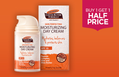 Buy 1 get 1 half price across Palmer's Skincare