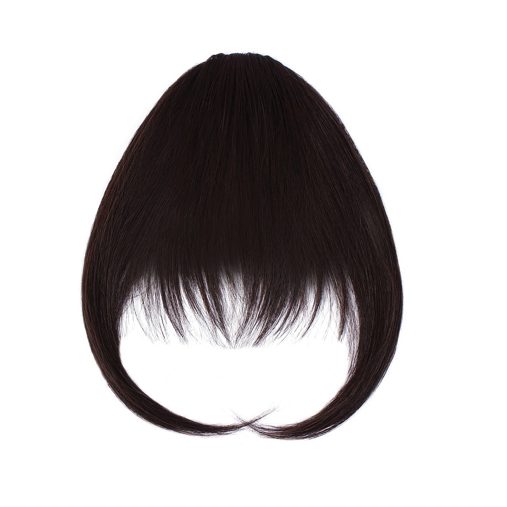 Sally Express hair u wear clip in fringe synthetic hair extension 5 inch - midnight brown
