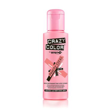 Crazy Color Semi Permanent Hair Colour Cream - Peachy Coral 100ml