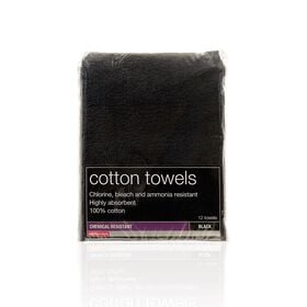 Salon Services Bleach Resistant Towel 12 Pack, Black