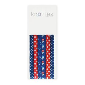 Knotties Wide Elastic Hair Ties -- Sail Away 6 Pack