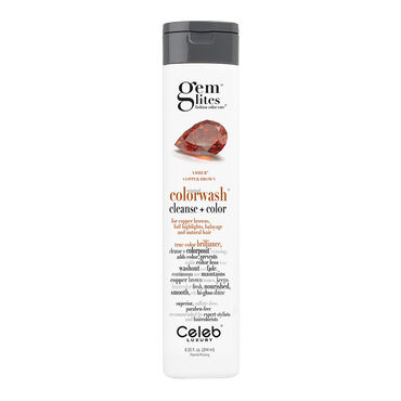 Celeb Luxury Gem Lites Semi Permanent Colourwash Shampoo Brown - Amber 244ml