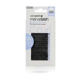 Salon System  Marvelash C Curl Lashes 0.07 Extra Fine, Vari-Length Black Each
