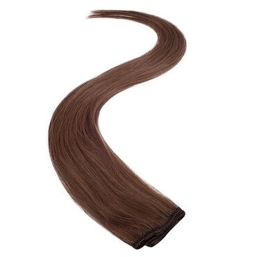 Wildest Dreams Clip In Single Weft Human Hair Extension 18 Inch - 4LB Warm Brown