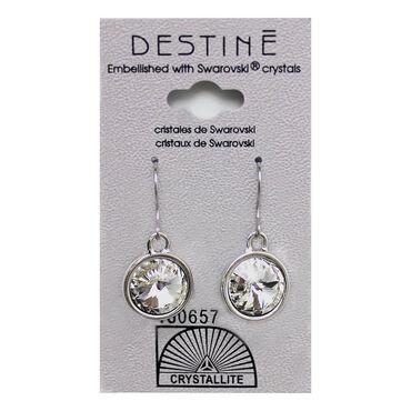 Crystallite Rivoli Dangle Earrings