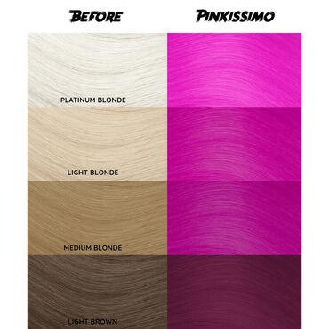Crazy Color Semi Permanent Hair Colour Cream - Pinkissimo 100ml