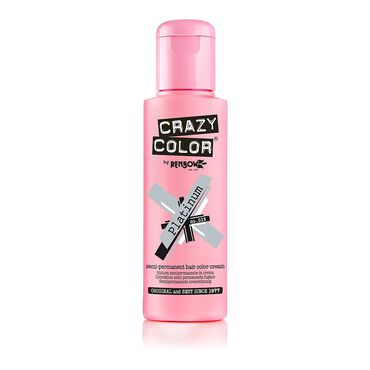 Crazy Color Crazy Color Semi Permanent Hair Colour Cream - Platinum 100ml