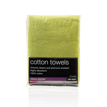 Salon Services Bleach Resistant Towel Lime Green Pack of 12