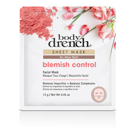 Body Drench No-Mess Mud Blemish Control Sheet Facial Mask 13g