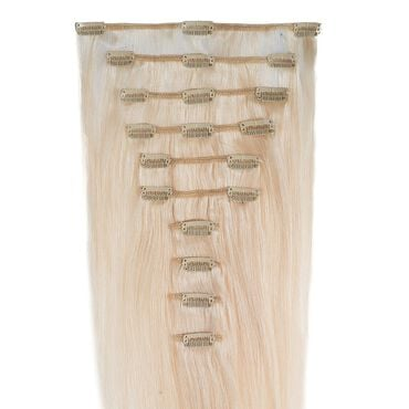 Wildest Dreams Clip In Full Head Human Hair Extension 18 Inch - 60 Blondest Blonde