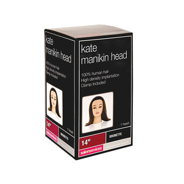 Salon Services Kate Brunette Manikin Training Head 14 Inch