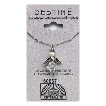 Crystallite Angel Pendant Necklace