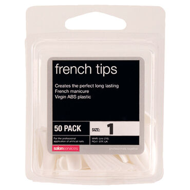 Salon Services French Tips Size 1 Pack of 50