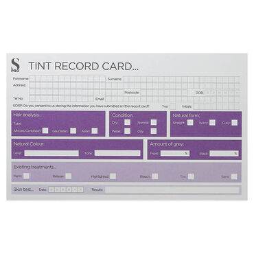 S-PRO Tint Record Cards, 1-pack