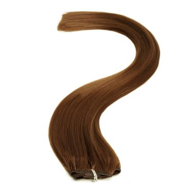 American Pride Clip-In Synthetic Hair Extension 18 Inch - 4 Mocha Brown