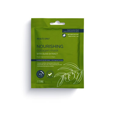 BeautyPro Nourishing Collagen Face Mask with Olive Extract 23g