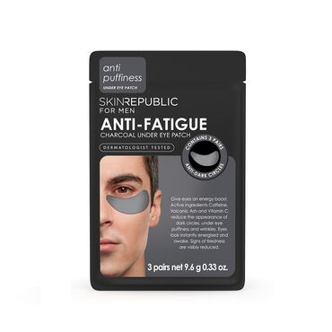 Skin Republic Mens Anti-Fatigue Charcoal Under Eye Patch 9.6g (3 Pairs)