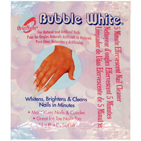 * Bubble White Five Minute Effervescent Nail Cleaner Sachet 11g