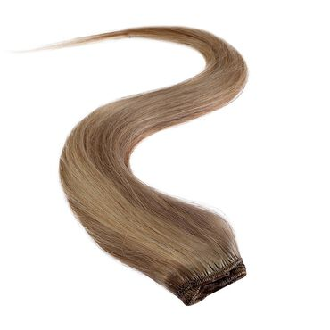 Wildest Dreams Clip In Half Head Human Hair Extension 18 Inch - 18/22 Medium Blonde