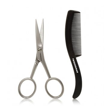 Tweezerman GEAR Moustache Scissors & Comb
