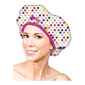 Betty Dain Fashion Shower Cap Deco Dots