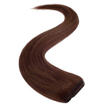 Wildest Dreams Clip In Full Head Human Hair Extension 18 Inch - 6 Sunkissed Brown
