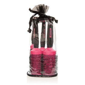 Salon Services Ceramic Brush Set Pink