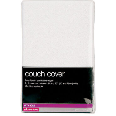 Salon Services Couch Cover With Hole White