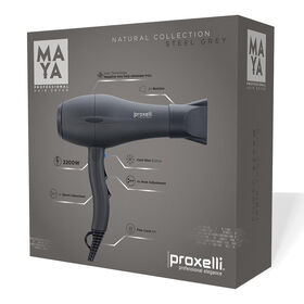 Proxelli MAYA Hairdryer Steel Grey