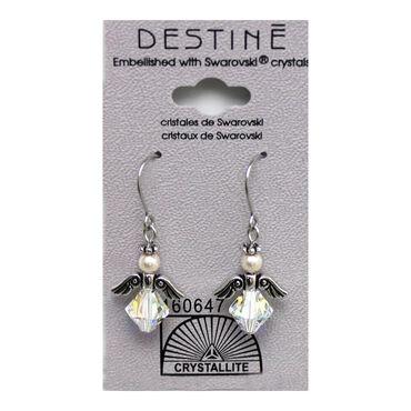 Crystallite Angel Dangle Earrings