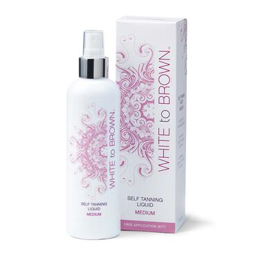 WHITE to BROWN Self Tanning Liquid Medium 250ml