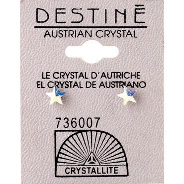 Crystallite Star Aurora Borealis Earrings 6mm