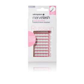 Salon System  Marvelash 0.07 6D Fan Lashes, Assorted Length, Russian Volume Black Each