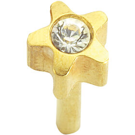 Caflon Regular Starstone Gold April Piercing Stud 1 pair