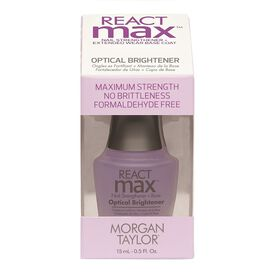 Morgan Taylor REACTmax Nail Strengthener + Extended Wear Base Coat - Optical Brightener