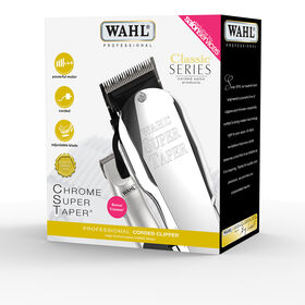 Wahl 8463-808 Chrome Super Taper Bonus Kit with free Micro Finisher Trimmer