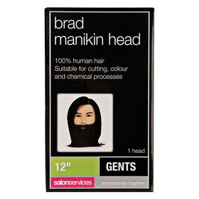 Salon Services Brad Manikin Training Head with Beard 12 Inch