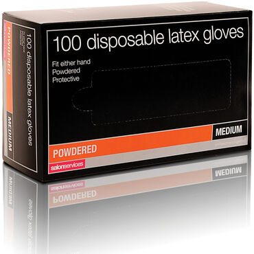 Salon Services Disposable Latex Gloves Pack of 100 - Small