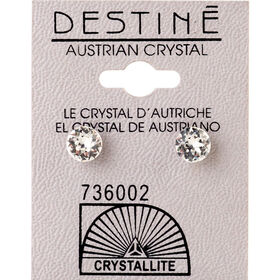 Crystallite Clear Medium Ear Studs 7mm