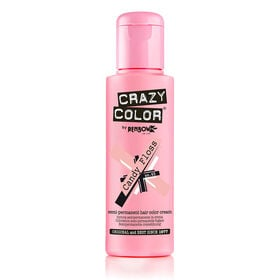 Crazy Color Semi Permanent Hair Colour Cream - Candyfloss 100ml