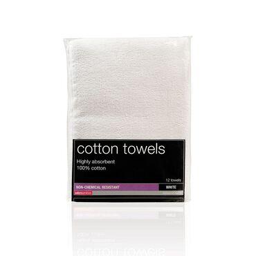Salon Services Non Bleach Resistant Towel White Pack of 12