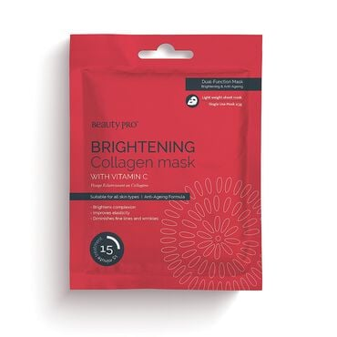 Beauty Pro Brightening Collagen Mask with Vitamin C 23g